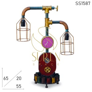 SS1587 SUREN SPACE Indian Industrial Metal Finish Table Lamp