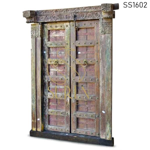 SS1602 Suren Space One of Kind Hand Carved Indian Door For Resort