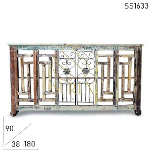 SS1633 Suren Space Antique Reproduction Unique Reclaimed Console Table