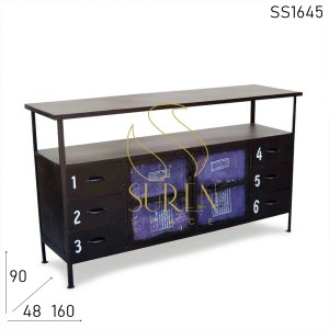 SS1645 Suren Space Metal Recycled Material Unique Sideboard