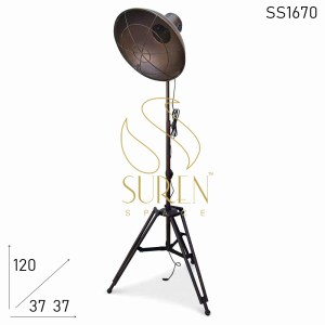 SS1670 SUREN SPACE Rustic Design Folding Industrial Floor Lamp