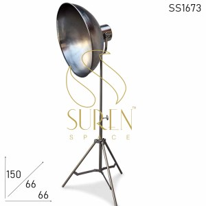 SS1673 SUREN SPACE Nickle Finish Folding Floor Lamp Design