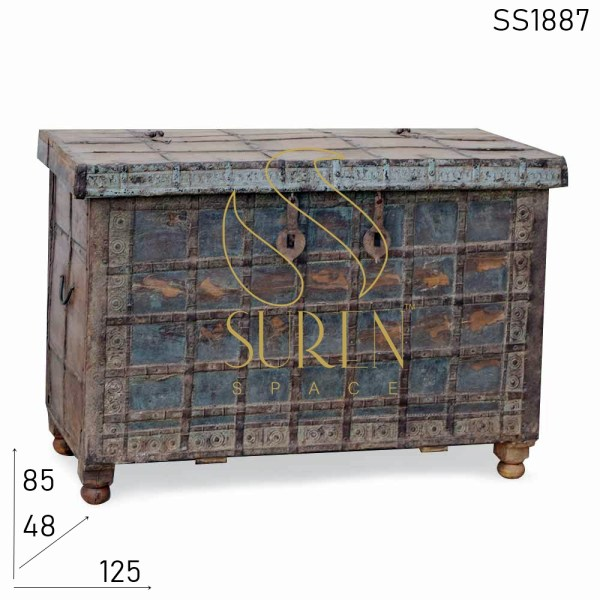 SS1887 SUREN SPACE Oude Anqiue One of Kind Indian Trunk Design