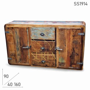 SS1914 Suren Space Fridge Style Reclaimed Indian Wood Sideboard