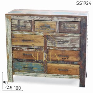 SS1924 Suren Space Multi Drawer Reclaimed Wood Drawer Chest Design