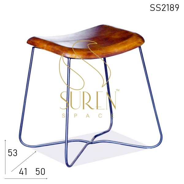 SS2189 Suren Space Bent Metal Leather Seat Regular Stool