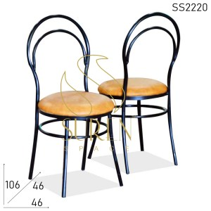 SS2220 Suren Space Bent Metal Outdoor Bistro Chair