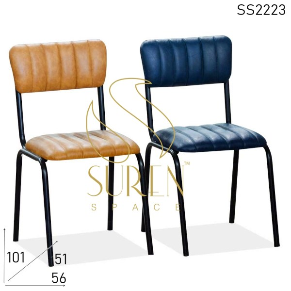 SS2223 Suren Space Bent Metal Upholstered Leatherette Design Chair