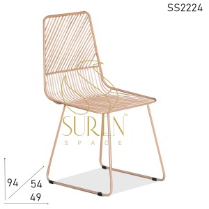 SS2224 Suren Space Bent Metal Outdoor Metal Chair