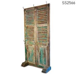 SS2566 Suren Space Green Distress Solid Wood Room Divider