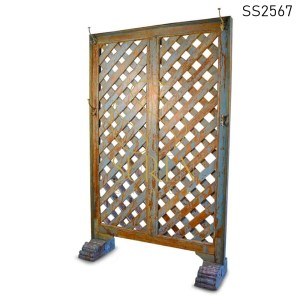 SS2567 Suren Space Blue Distress Old Panel Room Divider