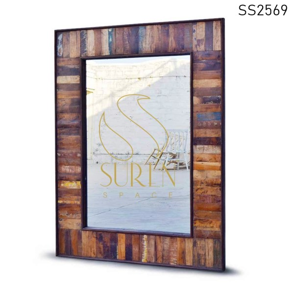 SS2569 Suren Space Reclaimed Old Wood Mirror Frame