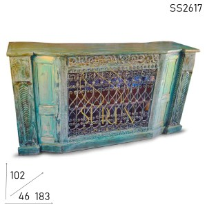 SS2617 Suren Space Antique Reproduction Bar Counter Cum Reception Counter