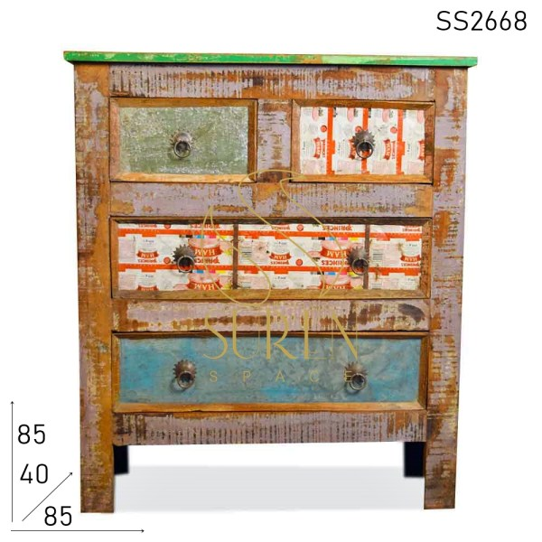 SS2668 Suren Space Recycled Wood Multi Drawered Chest