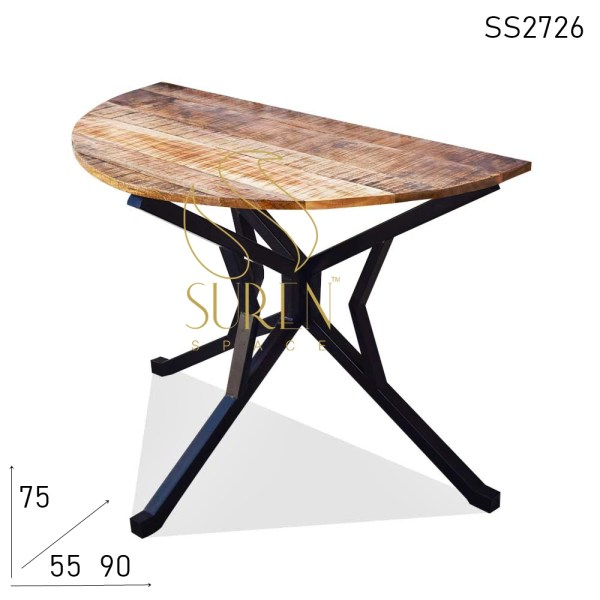 SS2726 Suren Space Half Round Indian Industrial Design Console Table