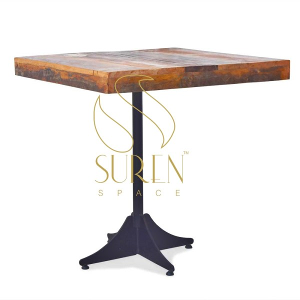 Suren Space Square Reclaimed Solid Wood Square Table