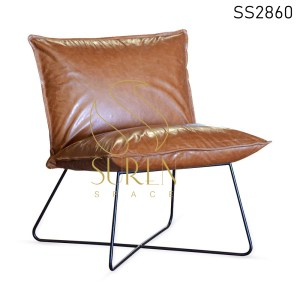 Buff Leather MS Base Resort Rest Chair