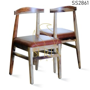Indian Rosewood Simple Design Leatherette Dining Chair