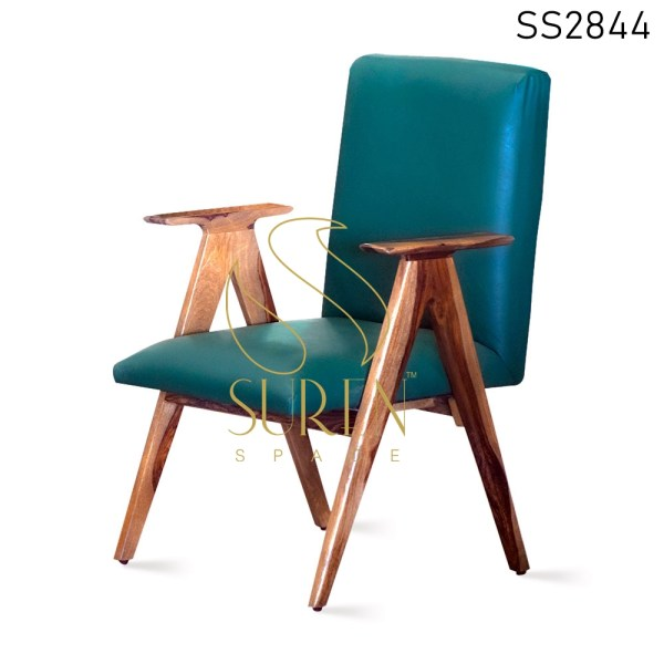 Wooden Hand Rest Designer Commercial Dining Chair