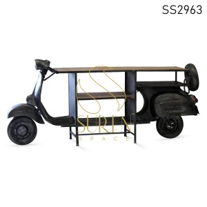 Indian Scooter Design Automobile Display Cabinet