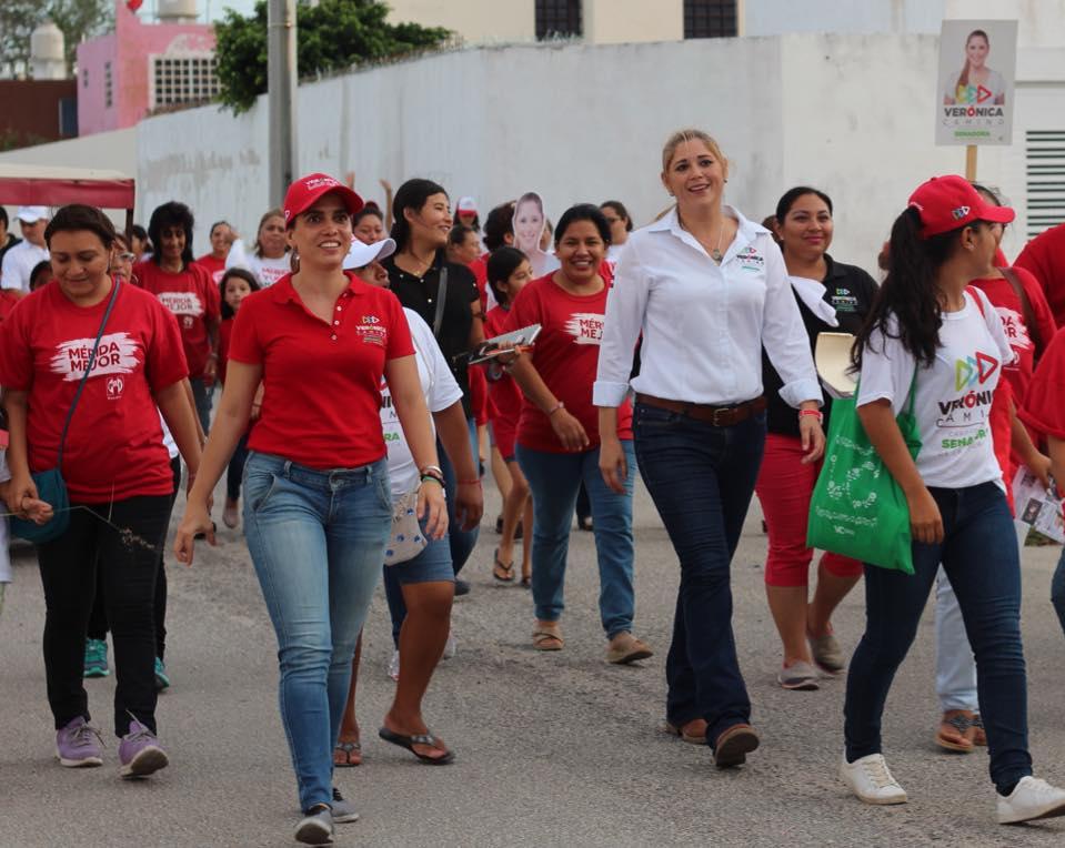Mi compromiso es por las familias yucatecas y por México: Verónica Camino  Farjat – Sureste Informa