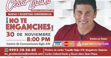 El Dr. César Lozano regresa a Mérida con nueva conferencia