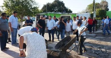 Alcalde de Progreso, Julián Zacarías Curi, lleva trabajos de mejoramiento a la comisaría de San Ignacio.