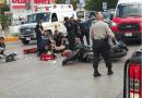 Policía de la SSP fallece tras colisionar con un automóvil que se pasó la luz roja