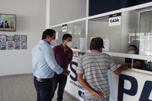 El alcalde Julián Zacarías Curi supervisa trabajos en las instalaciones y alrededores del Smapap