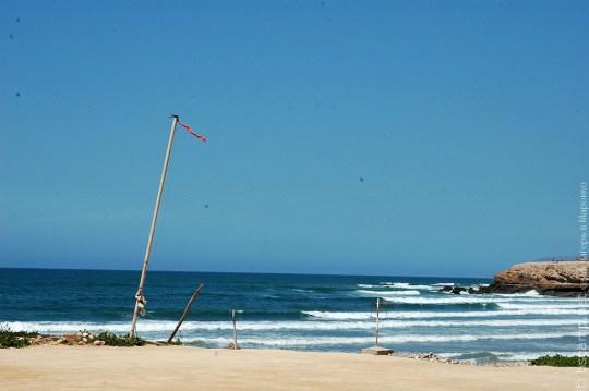Вид на спот Banana Point из школы серфинга в Марокко Surf-Burg
