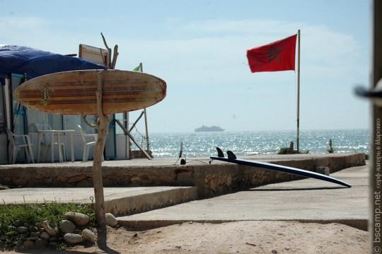 Двор школы серфинга в Марокко Surf-Burg