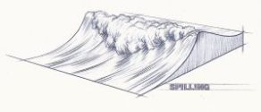 Déferlement glissant - La création des vagues