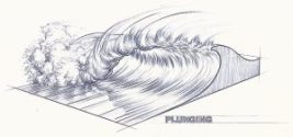 Déferlement plongeant - La création des vagues