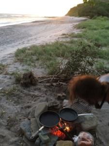 Surf trip à Popoyo - préparation du repas