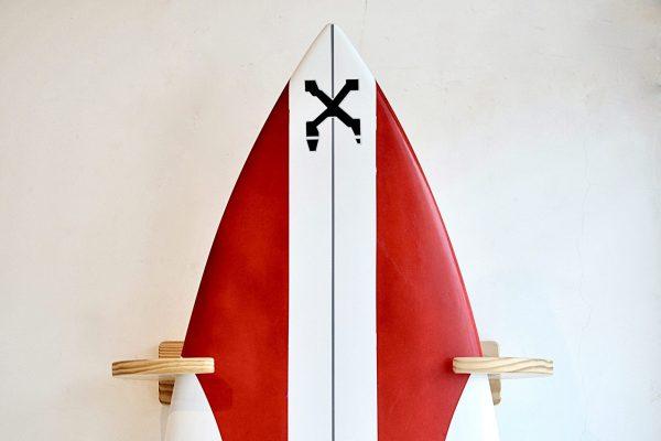 Vertical Wood Surf Rack