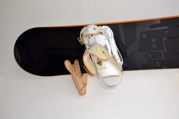 Snowboard Wood Rack