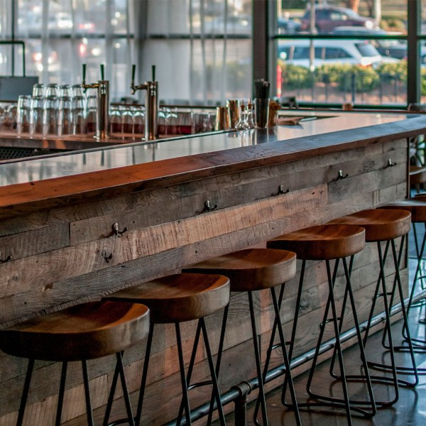 Reclaimed Brown Board Bar