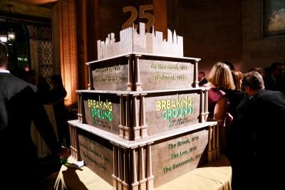 25th Anniversary Cake centerpiece