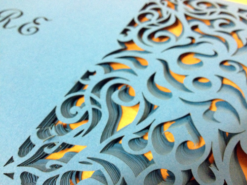 Surface Grooves Wedding Invite 1