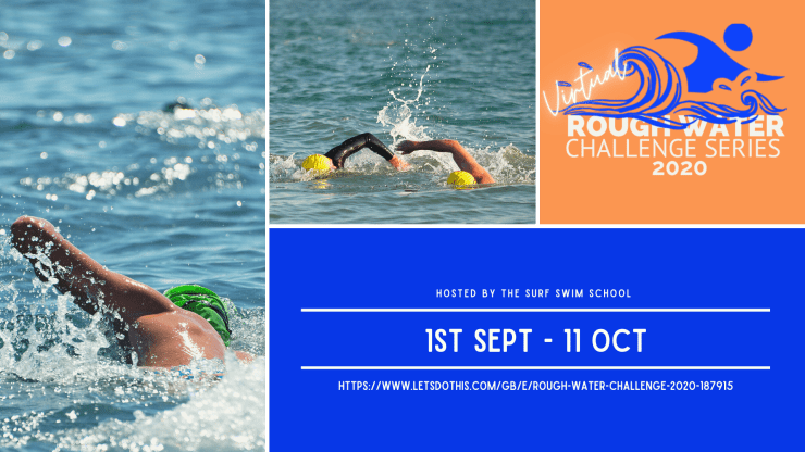 The Rough Water Challenge Series runs throughout September 2020. Hosted by the Surf Swim School