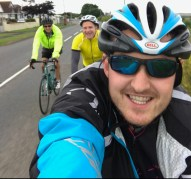 Adam, Darren and Josh getting a selfie in around Fremington