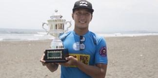 ムラサキ湘南オープン2018で優勝した安室丈の写真