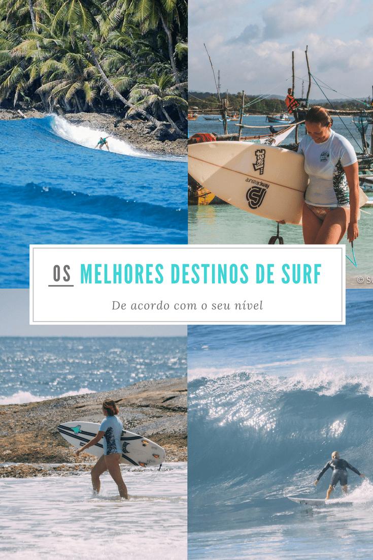 Os melhores destinos para surfar