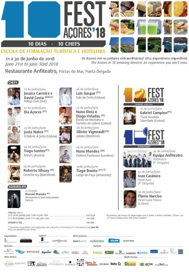 10 Fest Azores Schedule