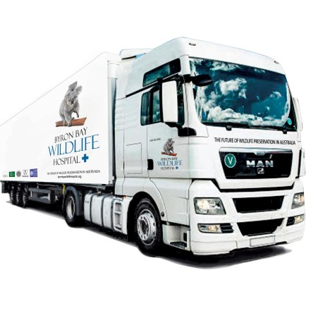 image of a truck that will operate as a mobile wildlife hospital
