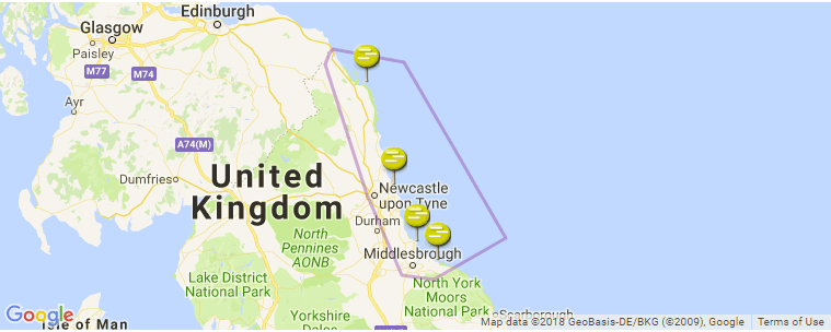 North East of England Surf Guide, Maps, Locations and ... on ( ̄︶ ̄)↗  id=53485