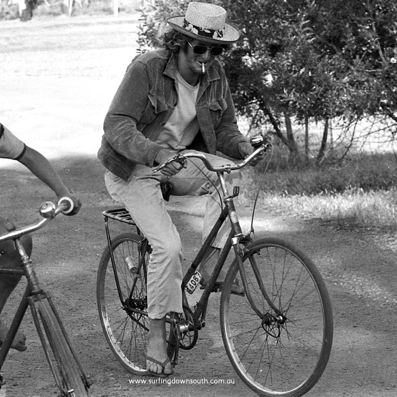 1971 Dunsborough RE Marshall on bike - R Chan img450B copy