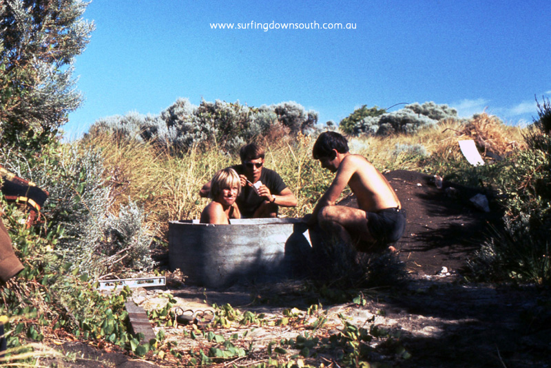 1967 Marg River Prevelly Nth End Shack sinking bore Muzz Smith, Gerry Krahn & Gary Pozzi  - Jim Breadsell pic1A