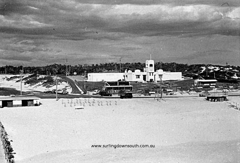 1958 City Beach view SLSC from tower (SLSC Club built 1935) - Brian Cole pic