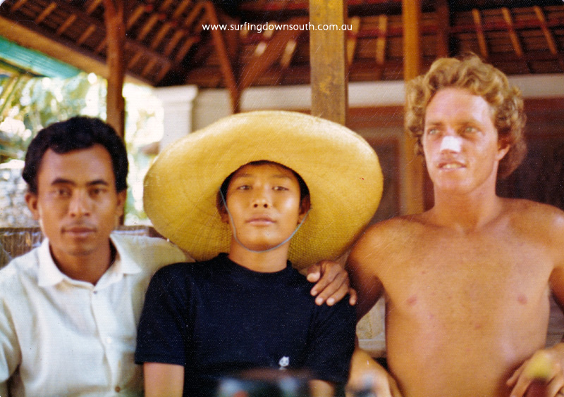 1973 Bali Micko Gracie with bali friends in losmen - P Mac pic IMG_02